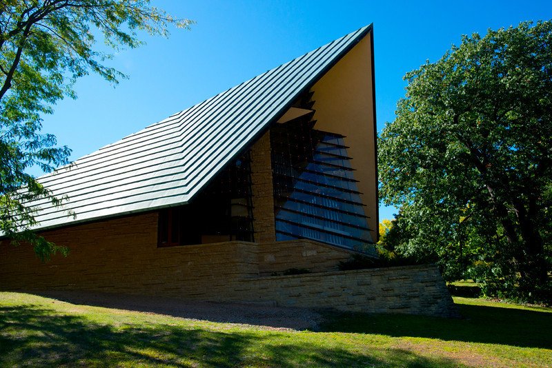 North America, USA, Shorewood Hills, Wisconsin, Unitarian Meeting House, Prow View