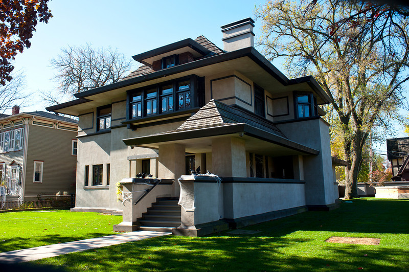 North America, USA, Illinois, Oak Park, Frank Lloyd Wright, Edward R. Hills House, 313 Forest Avenue