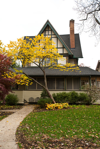 North America, USA, Illinois, Oak Park, Frank Lloyd Wright, Harrison P. Young House, 334 Kenilworth Avenue
