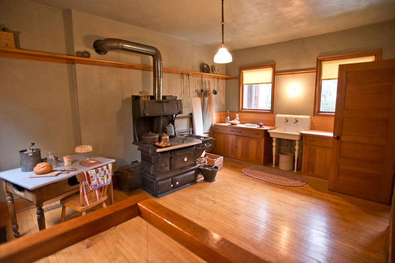 North America, USA, Illinois, Oak Park, Frank Lloyd Wright, Home and Studio, 951 Chicago Avenue, Kitchen