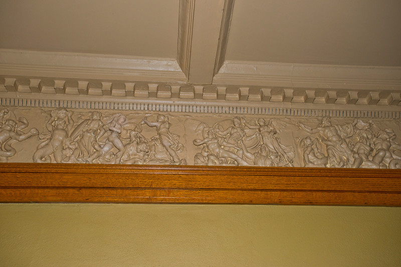 North America, USA, Illinois, Oak Park, Frank Lloyd Wright, Home and Studio, 951 Chicago Avenue, Entry Hall decorative wall panel