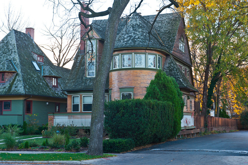 North America, USA, Illinois, Oak Park, Frank Lloyd Wright, Walter M. Gale House, 1031 Chicago Avenue