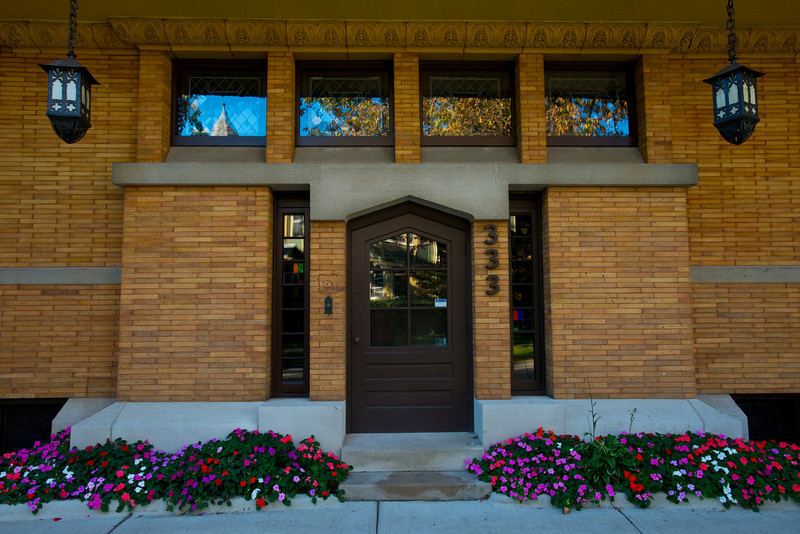 North America, USA, Illinois, Oak Park, Moore-Dugal House, Front Entry