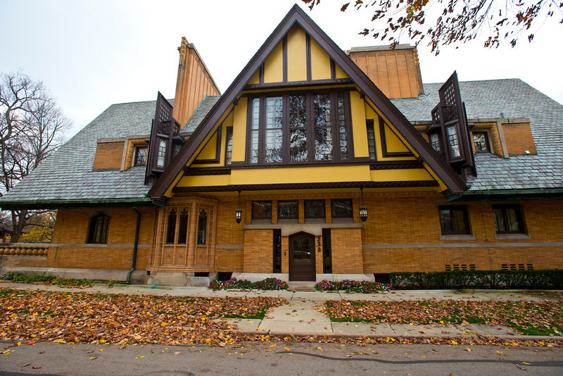 North America, USA, Illinois, Oak Park, Frank Lloyd Wright, Nathan G. Moore House