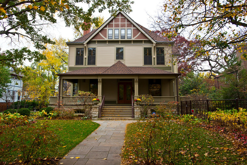 North America, USA, Illinois, Oak Park, Frank Lloyd Wright, Charles E. Roberts House, 321 North Euclid Avenue