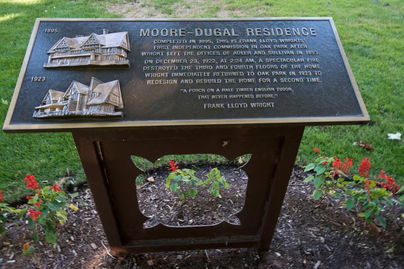 North America, USA, Illinois, Oak Park, Moore-Dugal House Historical Marker