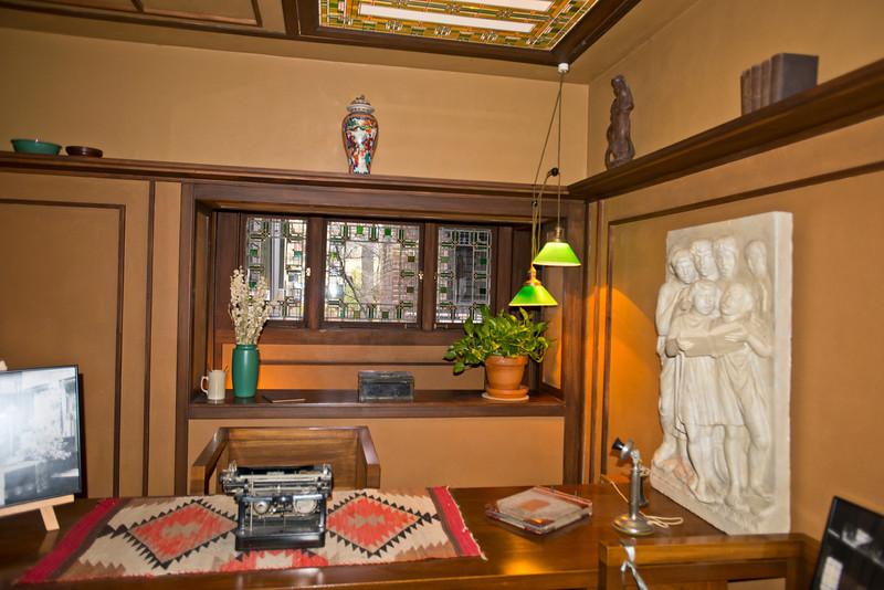 North America, USA, Illinois, Oak Park, Frank Lloyd Wright, Home and Studio, 951 Chicago Avenue, Studio, Wright's Office