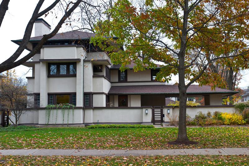 North America, USA, Illinois, Oak Park, Frank Lloyd Wright, William E. Martin House, 636 North East Avenue