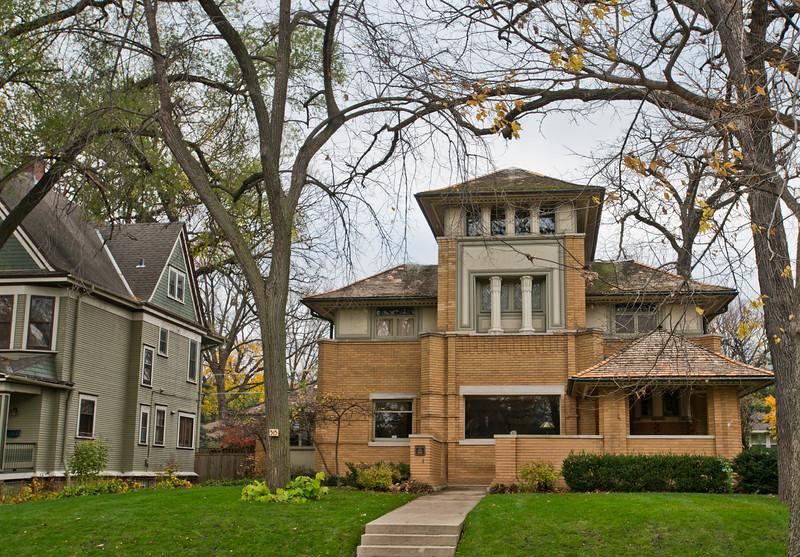 North America, USA, Illinois, Oak Park, Frank Lloyd Wright, Rollin Furbeck House, 515 Fair Oaks Avenue