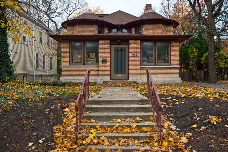 North America, USA, Illinois, Oak Park, Frank Lloyd Wright, George Furbeck House, 223 North Euclid Avenue