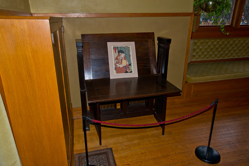 North America, USA, Illinois, Oak Park, Frank Lloyd Wright, Home and Studio, 951 Chicago Avenue, Sitting Room Table