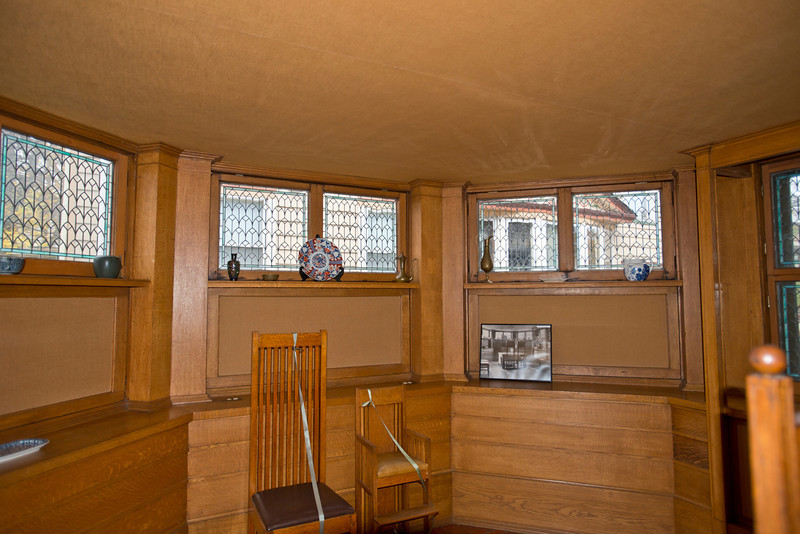North America, USA, Illinois, Oak Park, Frank Lloyd Wright, Home and Studio, 951 Chicago Avenue, Dining Room