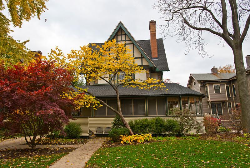 North America, USA, Illinois, Oak Park, Frank Lloyd Wright, Harrison P. Young House, 334 Kenilworth Avenue