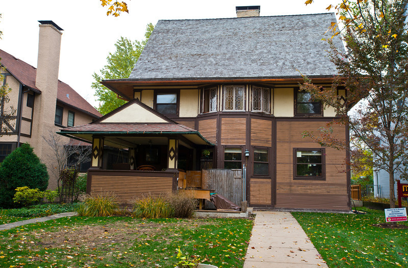 North America, USA, Illinois, Oak Park, Frank Lloyd Wright, Remodeled Harry C. Goodrich House, 534 North East Avenue