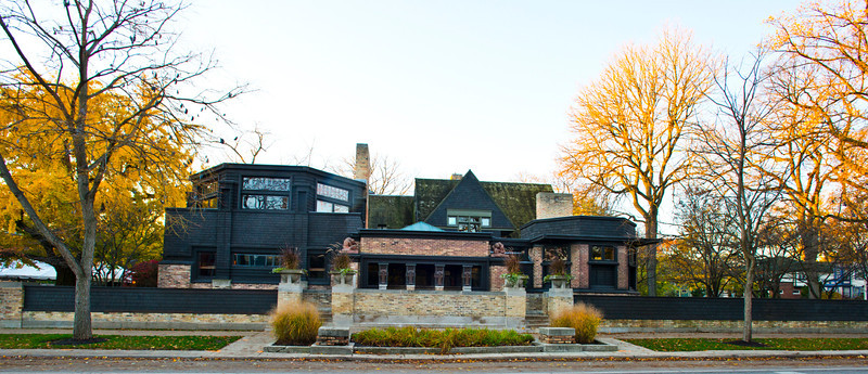 North America, USA, Illinois, Oak Park, Frank Lloyd Wright, Home and Studio, 951 Chicago Avenue