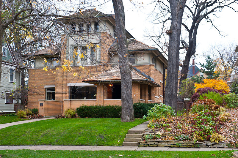 North America, USA, Illinois, Oak Park, Frank Lloyd Wright, Rollin Furbeck House, 515 Fair Oaks Avenue