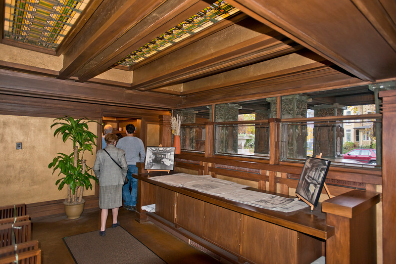 North America, USA, Illinois, Oak Park, Frank Lloyd Wright, Home and Studio, 951 Chicago Avenue, Studio Wright's Drafting Room