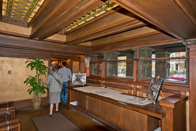 North America, USA, Illinois, Oak Park, Frank Lloyd Wright, Home and Studio, 951 Chicago Avenue, Studio Wright's Drafting Room