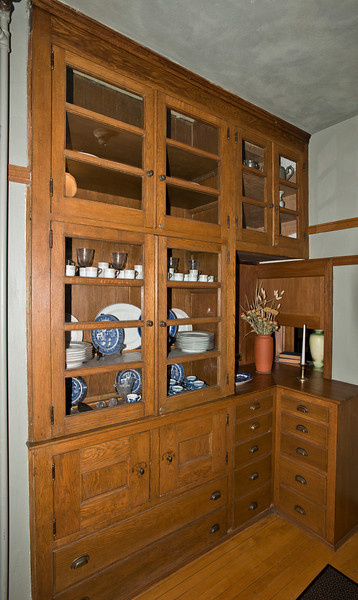 North America, USA, Illinois, Oak Park, Frank Lloyd Wright, Home and Studio, 951 Chicago Avenue. Kitchen area