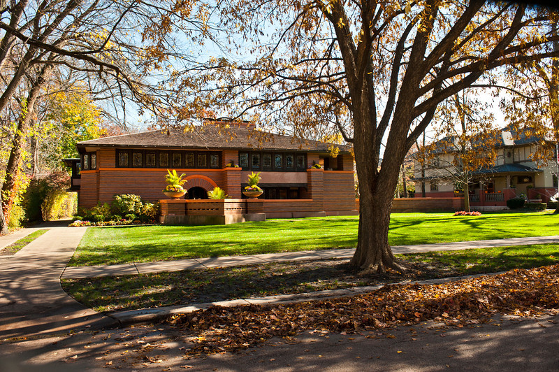 North America, USA, Illinois, Oak Park, Frank Lloyd Wright, Arthur Heurtley House, 318 Forest Avenue