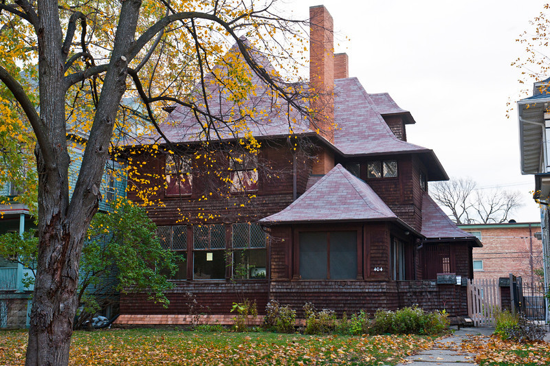 North America, USA, Illinois, Oak Park, Frank Lloyd Wright Designed Home, George W. Smith, 404 South Home Avenue