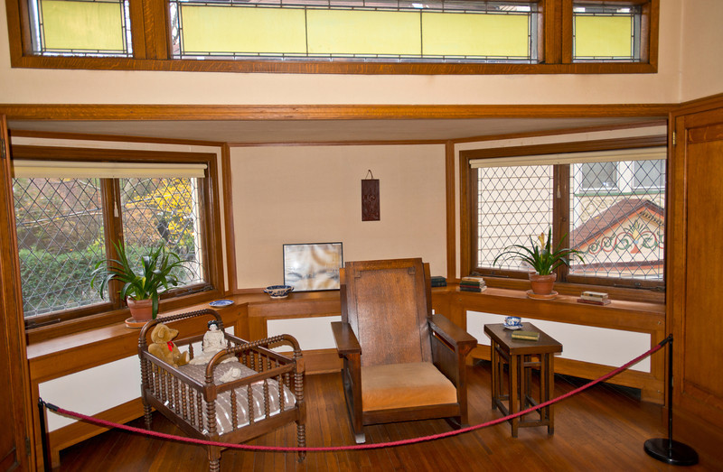 North America, USA, Illinois, Oak Park, Frank Lloyd Wright, Home and Studio, 951 Chicago Avenue, Nursery