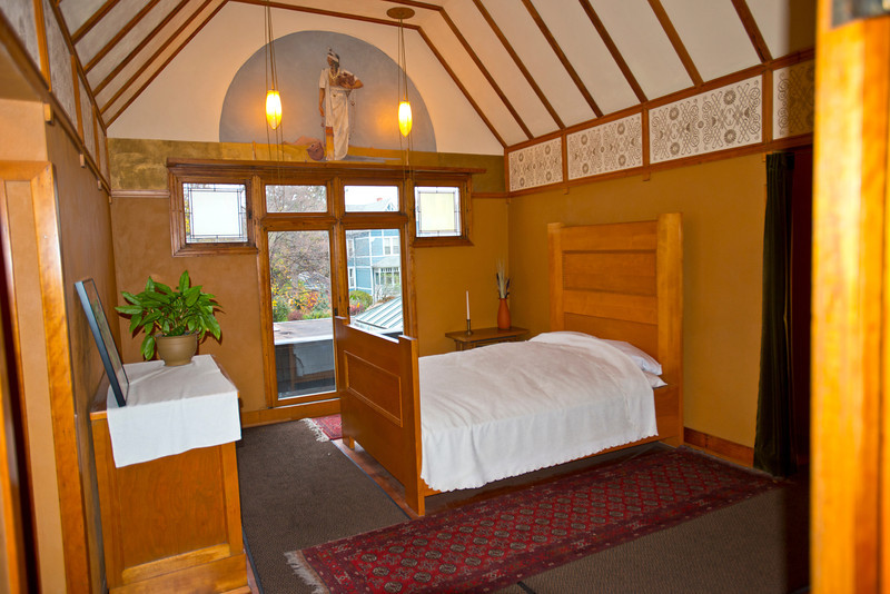 North America, USA, Illinois, Oak Park, Frank Lloyd Wright, Home and Studio, 951 Chicago Avenue, Master Bedroom