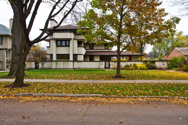North America, USA, Illinois, Oak Park, Frank Lloyd Wright, William E. Martin House, 636 North East Avenue