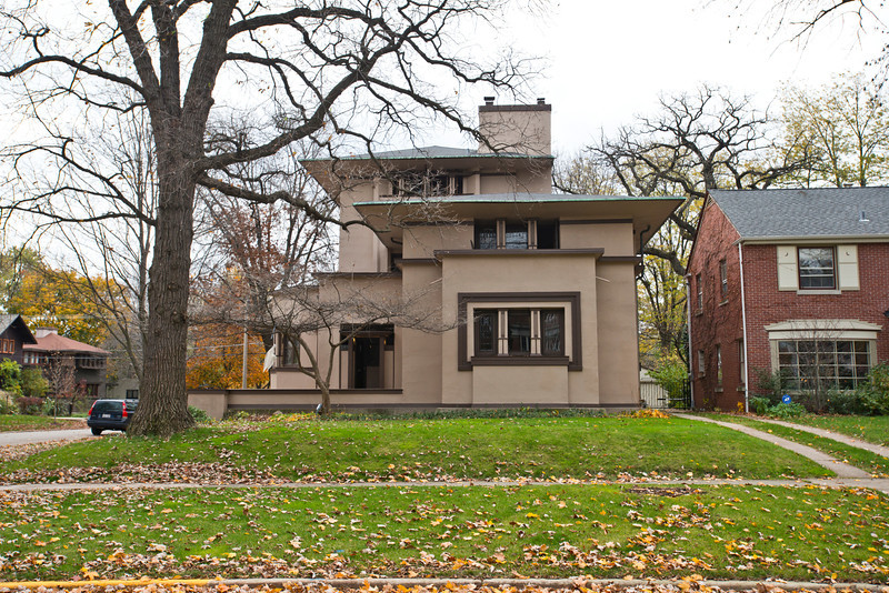 North America, USA, Illinois, Oak Park, Frank Lloyd Wright, William G. Fricke House, 540 Fair Oaks Avenue