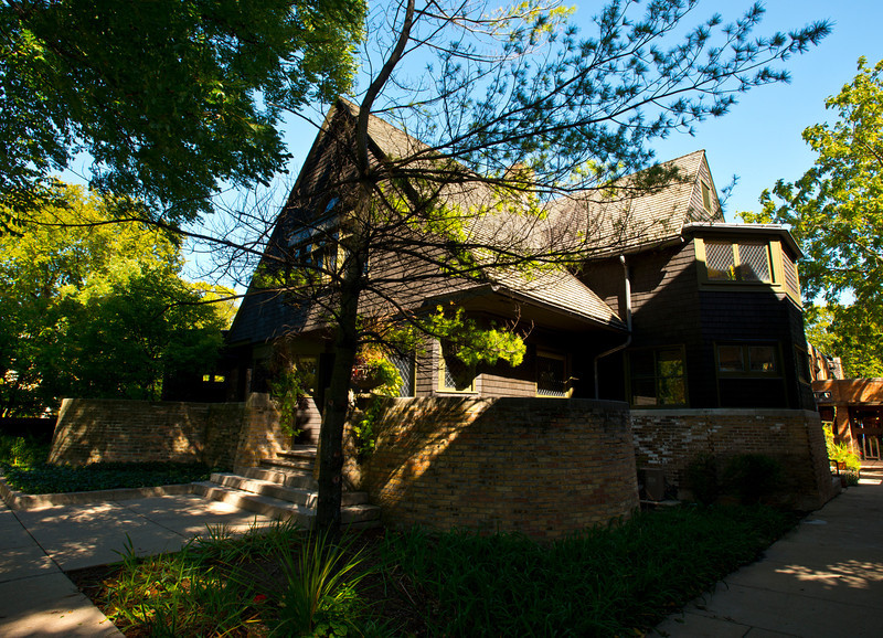 North America, USA, Illinois, Oak Park, Frank Lloyd Wright Home and Studio