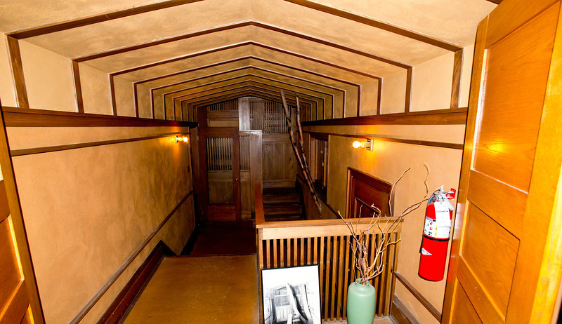 North America, USA, Illinois, Oak Park, Frank Lloyd Wright, Home and Studio, 951 Chicago Avenue, Studio Hallway