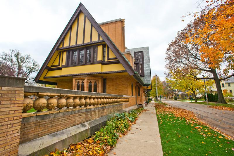 North America, USA, Illinois, Oak Park, Frank Lloyd Wright, Nathan G. Moore House