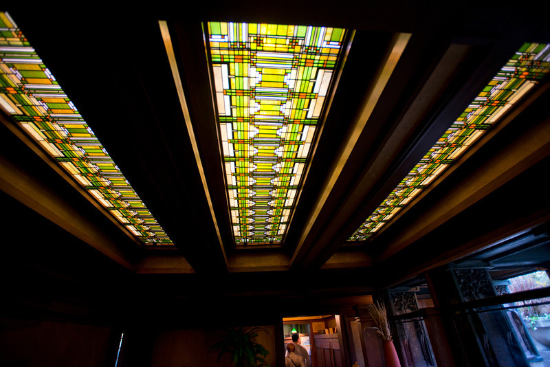 North America, USA, Illinois, Oak Park, Frank Lloyd Wright, Home and Studio, 951 Chicago Avenue, Studio Wright's Drafting Room Skylight