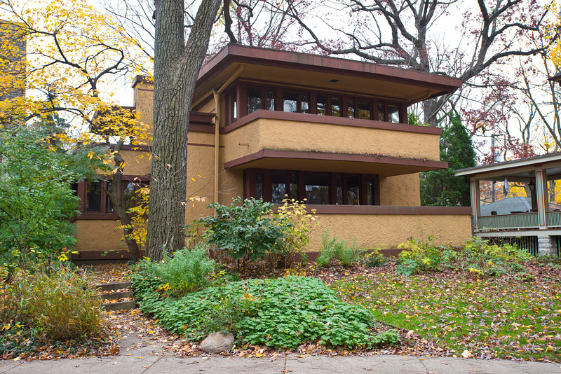 North America, USA, Illinois, Oak Park, Frank Lloyd Wright, Laura (Mrs. Thomas) Gale House
