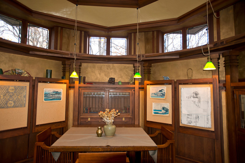 North America, USA, Illinois, Oak Park, Frank Lloyd Wright, Home and Studio, 951 Chicago Avenue, Studio Wright's Reception and Meeting Room