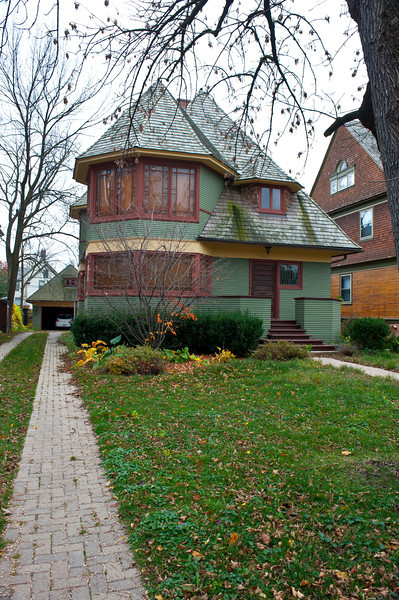 North America, USA, Illinois, Oak Park, Frank Lloyd Wright, Thomas H. Gale House, 1027 Chicago Avenue