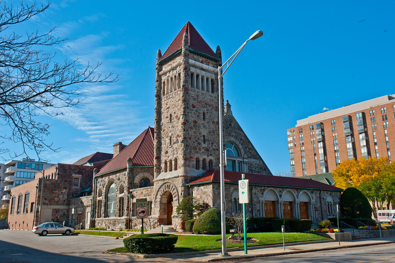 North America, USA, Illinois, Oak Park, Frank Lloyd Wright, Calvary Memorial Church