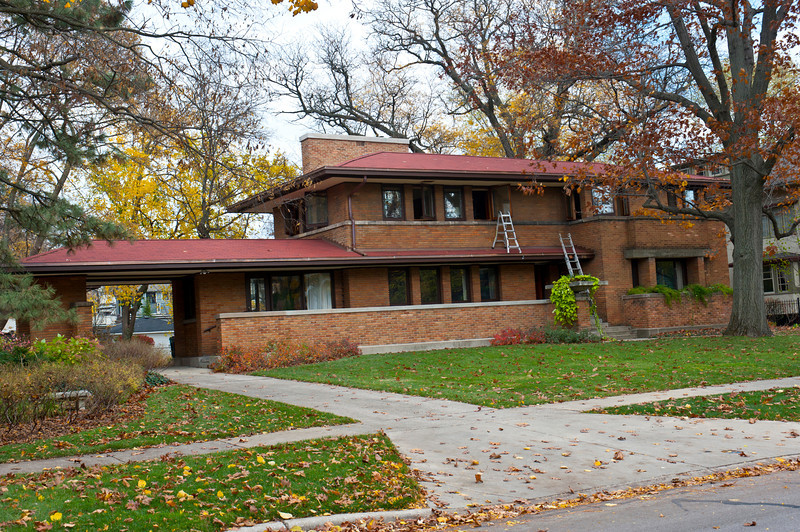 North America, USA, Illinois, Oak Park, Frank Lloyd Wright, Harry S. Adams House, 710 Augusta Avenue