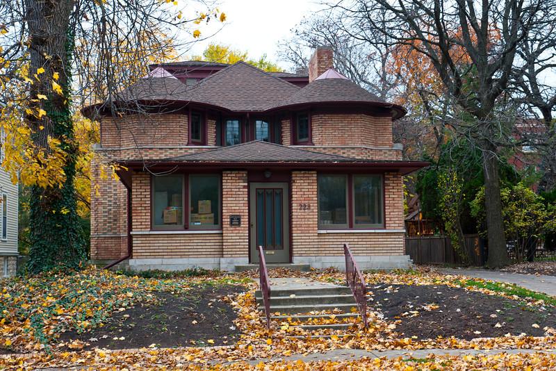 North America, USA, Illinois, Oak Park, Frank Lloyd Wright, George Furbeck House, 223 North Euclid Avenue
