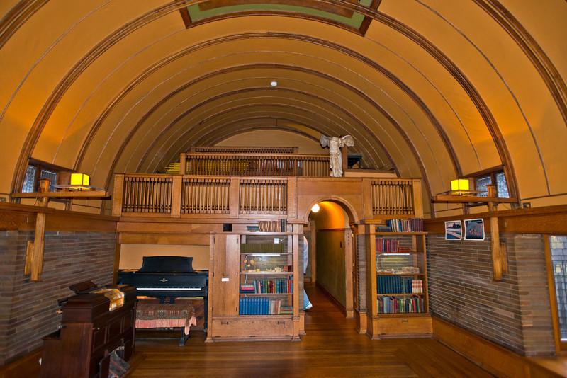 North America, USA, Illinois, Oak Park, Frank Lloyd Wright, Home and Studio, 951 Chicago Avenue, Children's Playroom