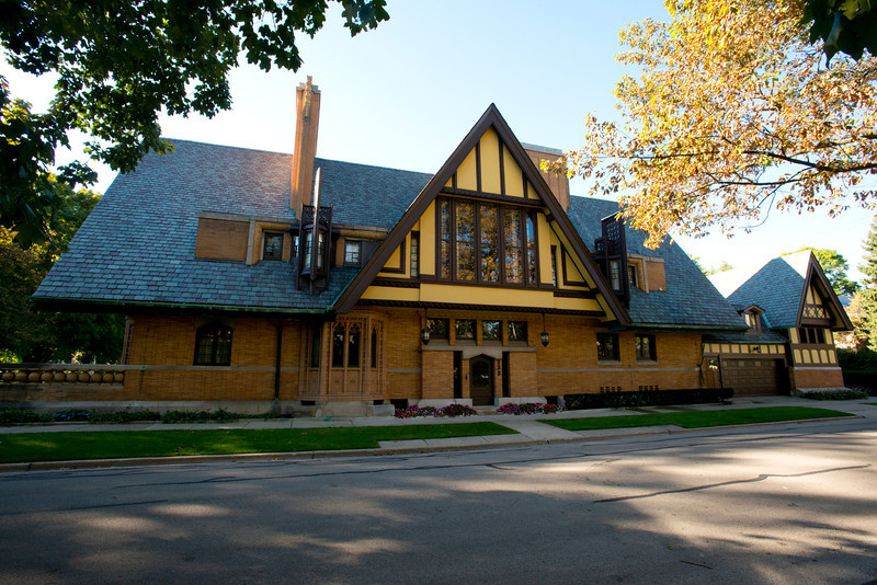 North America, USA, Illinois, Oak Park, Moore-Dugal House