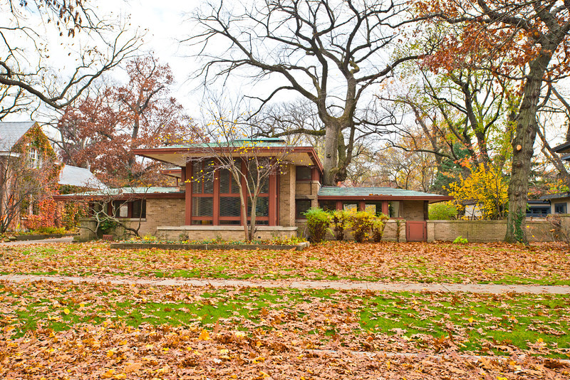 North America, USA, Illinois, River Forest, Frank Lloyd Wright, Isabel Roberts House, a Prairie Design