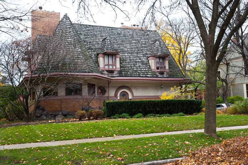 North America, USA, Illinois, River Forest, Frank Lloyd Wright, Chauncey L. Williams House, 530 Edgewood Place