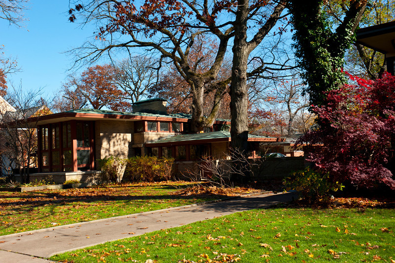 North America, USA, Illinois, River Forest, Frank Lloyd Wright, Isabel Roberts House, a Prairie Design, 603 Edgewood Place