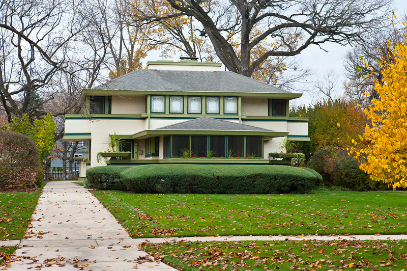 North America, USA, Illinois, River Forest, Frank Lloyd Wright, J. Kibben Ingalls House, 562 Keystone Avenue