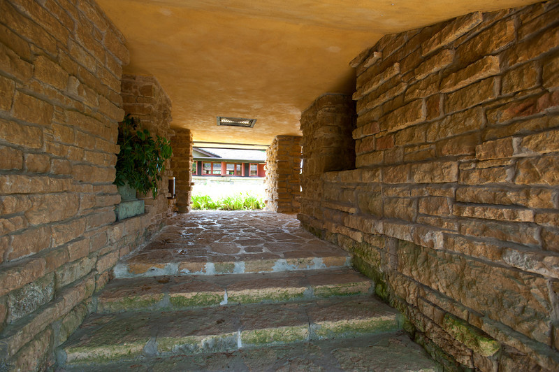 USA, Wisconsin, Spring Green. Frank Lloyd Wright, Taliesin, His Private Residence Entrance