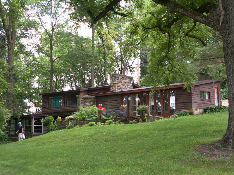 USA, Wisconsin, Spring Green, Frank Lloyd Wright compound, Taliesin, Residence Buildings