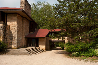 USA, Wisconsin, Spring Green. Frank Lloyd Wright, Taliesin, Hillside Studio and Theatre