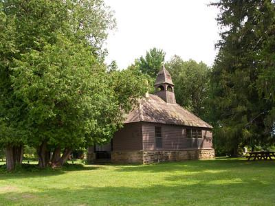 USA, Wisconsin, Spring Green, Frank Lloyd Wright compound, Taliesin, Unity Chapel