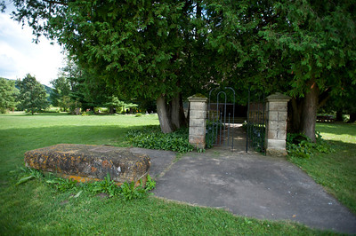 USA, Wisconsin, Spring Green, Frank Lloyd Wright compound, Taliesin, Unity Chapel Entrance Gate